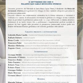 FIRMA DEL DOCUMENTO D'INTESA PER LA GESTIONE E LO SVILUPPO DEI BENI E DELLE AZIENDE SOTTOPOSTE A PROCEDURE DI PREVENZIONE PATRIMONIALI